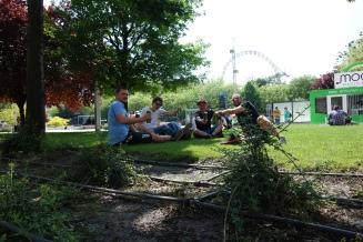 entspannte Atmosphäre im Park