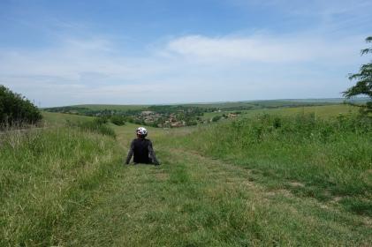 Idylische Landschaft mit kleinen Dörfern