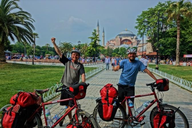 Angekommen im Zentrum an der Hagia Sophia