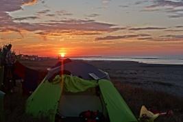 Sonnenuntergang am Strand von Karasu