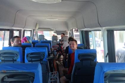 Unsere Busfahrt war ganz witzig