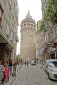 Der Galata Turm in Beyoğlu