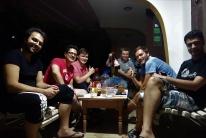 Mit den Jungs aus dem Iran und der Türkei verbrachten wir einen netten Abend