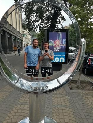 Zwei Selfietouristen on Tour