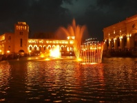 Die Wassershow am Platz der Republick war absolut sehenswert