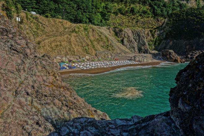 Unser Zeltplatz war mit diesem exklusivem Strand ausgestattet