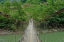 Hängebrücken gabs es hier wie sind am Meer