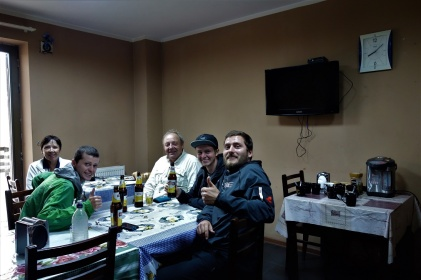 Zusammen mit Elke und Günther beim Abendessen