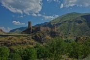 Die imposante Burg Khertvisi