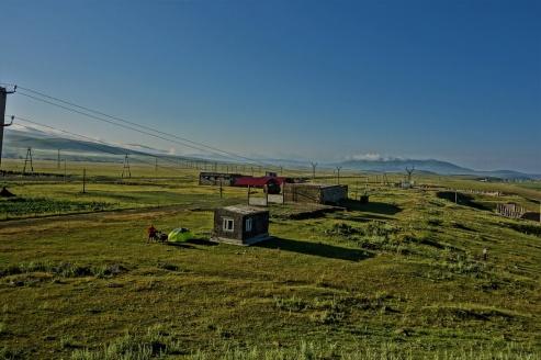 Unser Zeltplatz in Bavra/Armenien auf 2200m höhe