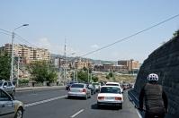 Die Fahrt durch Yerivan war trotz Stau angenehm