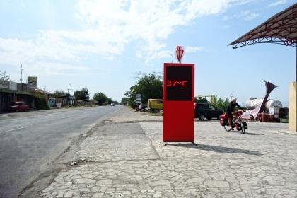Morgen's um 11Uhr in Armenien. Da macht Radfahren Spaß