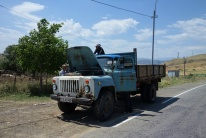 Ein kurze Verschnaufpause für den alten GAZ-53