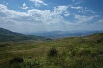 Blick ins Tal von der Passhöhe