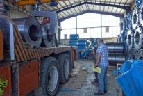 Hassan's Firma für Stahlblech mit welchen er Handelt
