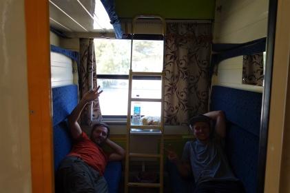 Hier hatten wir noch Platz im Schlafabteil
