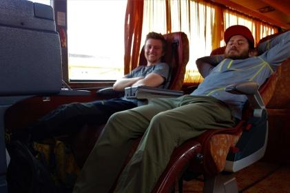 Im Vollklimatisierten VIP Bus ging es nach Isfahan