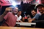 Mit Manuel aus Madrid (vorne) und Maurice aus Uruguay waren wir zusammen auf dem Zimmer im Hostel. Wir hatten einen netten Abend mit den beiden.