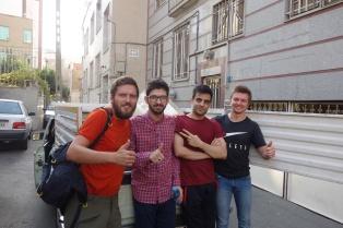 Abschied von Mehran(links) und Hassan(rechts) die Jungs waren echt Großartig !!!