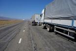 Geplatzte LKW Reifen liegen hier überall rum. Und alle 10km haben wir einen LKW mit Reifenpanne gesehen. Scheint eine Art Hobby zu sein!