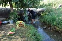 Trinkwasserzapfen an der Hauptwasserleitung