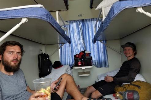 Im Schlafabteil hatten wir ordentlich Platz und unsere Ruhe