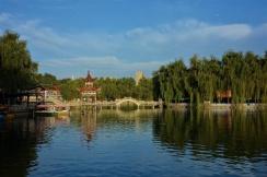 Netter See mitten in der Stadt in Taoyang