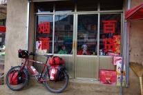 In dem kleinen Geschäft durften wir uns kurz Aufwärmen und bekamen noch einen Tee von der Inhaberin.