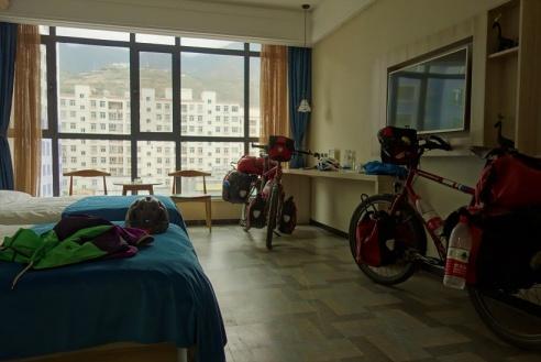 Unsere Bikes durften mit ins Zimmer