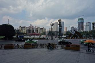 Blick auf den Tianfu Platz