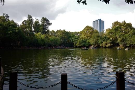 Der See im stets total überlaufenen People's Park