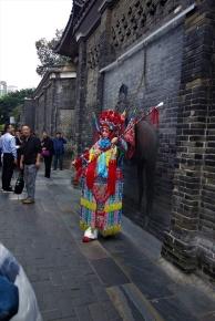 Eine Darstellerin des berühmten Sichuan Theater's
