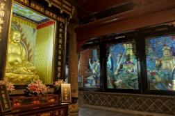 Buhdda Figuren im Wenshu Kloster