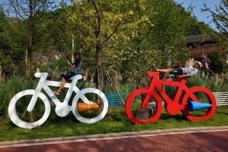 Wir haben mal unsere Bikes gegen ein paar größere getauscht