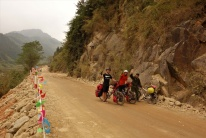Wir treffen immer wieder auch Chinesische Reiseradler