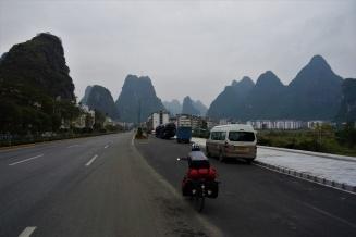 Einfahrt nach Yangshuo