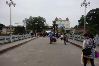 Auf Weg zur Vietnamesischen Grenzkontrolle