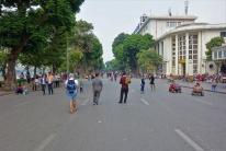 Am Wochenende werden die Hauptverkehrsstraßen in Hanoi für den Straßenverkehr gesperrt