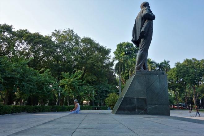 Lenin Statur aufdem Lenin Platz