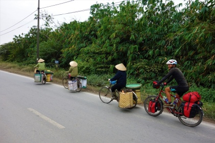 Vietnamesische Reiseradler