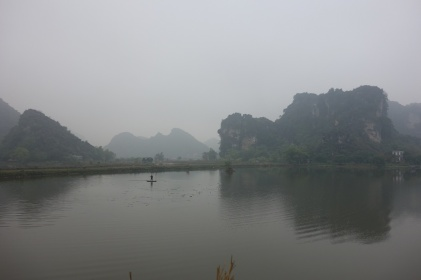 Nebel in Ninh Binh am Abfahrtstag