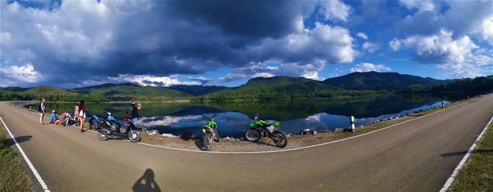kleine Motorrad Tour mit allen zusammen