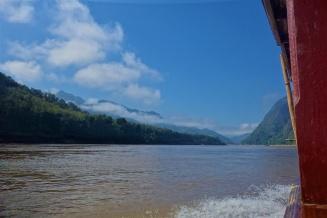 Tolle Landschaft auf dem Mekong