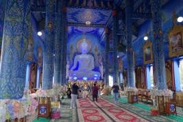 Blauer Tempel in Chiang Rai von Innen